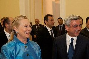 Serzh Sargsyan - Sargsyan and US State Secretary Clinton in Yerevan, 4 June 2012
