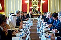 Secretary Kerry Sits Across from British Foreign Secretary Johnson at the Outset of a Multinational Meeting on Syria (30065691830).jpg