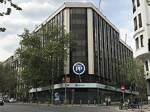 People's Party (Spain) - Headquarters on Calle Genova in Madrid. As the party seat, the term Genova often used as a metonym for the Party leadership.