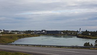 Selfoss (town) - View over Selfoss, looking south from the north bank of the Ölfusá river