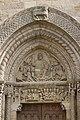 Semur en Brionnais-Église Saint Hilaire-20110212-Linteau et tympan ouest.jpg