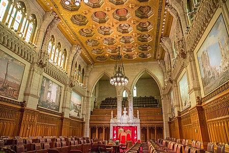 Senate Chamber, Canadian Parliament, Centre Block, Ottawa 14579981888.jpg