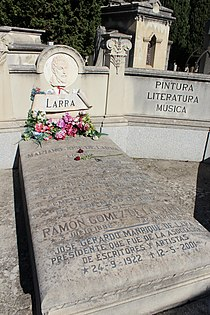 Sepultura de Mariano José de Larra, Ramón Gómez de la Serna y José Gerardo Manrique de Lara (panteón de Hombres Ilustres, sacramental de San Justo).JPG