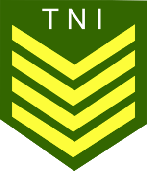Sergeant major - The Sergeant Major rank insignia of the Indonesian Army