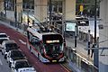 Shanghai Bus Route 71 ZK5180C Trolleybus at Huashan Road Station.jpg