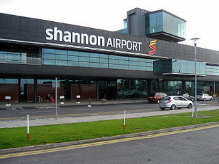 international airport serving Shannon, Ireland