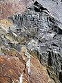 Shatterconed sandstone (Mississagi Formation, Paleoproterozoic, ~2.3-2.4 Ga; Ramsey Lake Road outcrop, Sudbury, Ontario, Canada) 100 (40801877703).jpg