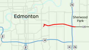 Sherwood Park Freeway - Image: Sherwood Park Freeway Map