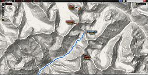 Shilla Col - Topo Map of the area