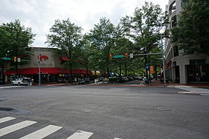 Shirlington, Arlington, Virginia - Restaurants along Campbell Avenue in 2014