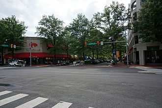Shirlington, Arlington, Virginia - Restaurants along Campbell Avenue in 2014