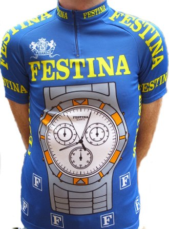 Festina (cycling team) - Image: Shirt festina cyclingteam