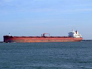 Sibonina - IMO 9036519 - Callsign A8LU6 leaving Port of Rotterdam, Holland 27-Jan-2005 photo-2.jpg