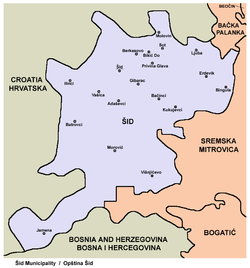 šid srbija mapa Šid   Wikipedia šid srbija mapa