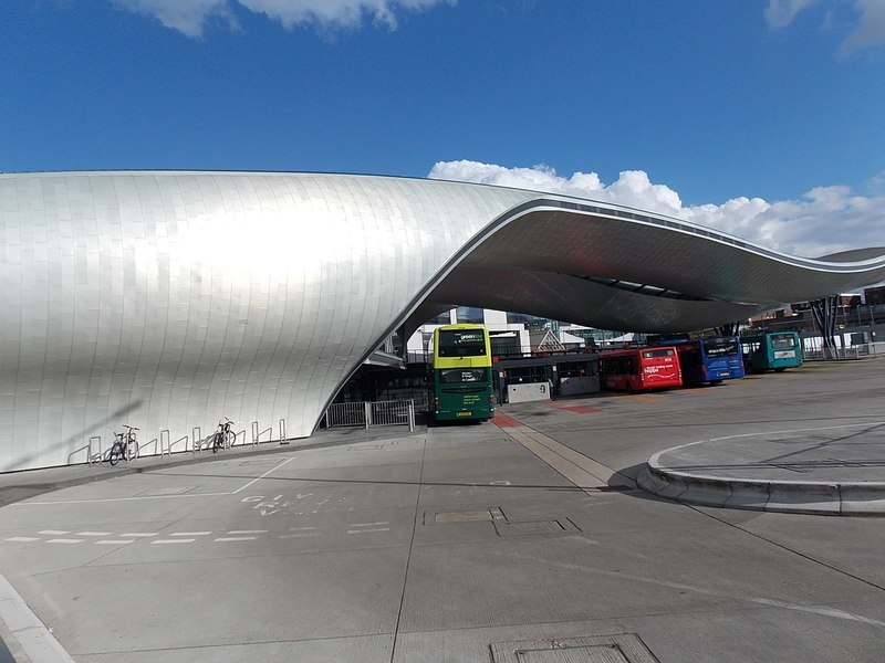 Side view of Slough bus station (geograph 3459140)