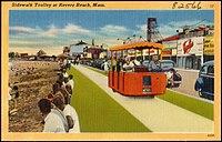 Sidewalk Trolley at Revere Beach, Mass (82566).jpg
