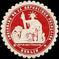 Siegelmarke Ambassade de la Republique Francaise - Berlin W0223614.jpg
