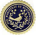 Siegelmarke mit dem ehemaligem Wappen um 1890