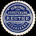 Siegelmarke Gemeinde-Vorstehung Reuthe - Vorarlberg W0261575.jpg