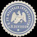 Siegelmarke K.Pr. Militair Intendantur der 8. Division W0338217.jpg