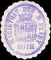 Siegelmarke Magistrat der Bayerischen Stadt Roth W0229404.jpg