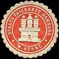 Siegelmarke Staats Thierarzt Hamburg - W. Köhne W0226596.jpg