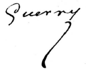 André-Michel Guerry - Image: Signature de André Michel Guerry