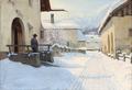 Sigvard Hansen - Sneklædt landsby - 1914.png