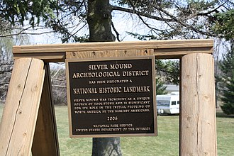 Silver Mound Archeological District - Sign