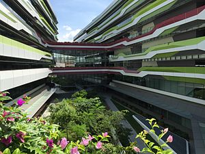 Singapore University of Technology and Design - A view of the University in June 2015