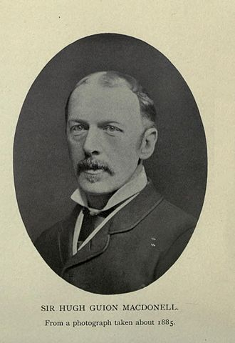 """Sir Hugh Guion MacDonell - Photo taken from the book of his Wife, Anne Lumb Yates, """"Reminiscences Of Diplomatic Life"""" 1913"""