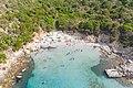 Sky blue waters at Villasimius Bay in Sardinia, Italy (48424408097).jpg