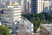 Skylines view of Nicosia from Shakolas Tower in Ledra Street Republic of Cyprus.jpg