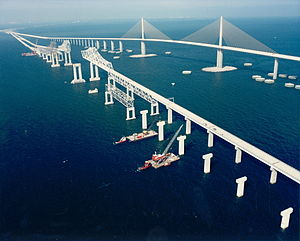 Sunshine Skyway Bridge - Image: Skyway Bridge 3