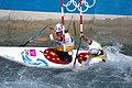 Slalom canoeing 2012 Olympics C2 CHN Hu Minghai and Shu Junrong.jpg