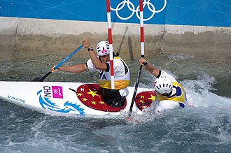 China at the 2012 Summer Olympics - Image: Slalom canoeing 2012 Olympics C2 CHN Hu Minghai and Shu Junrong