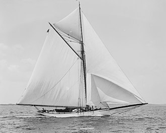 Mischief (yacht) - The Mischief as pictured in 1891