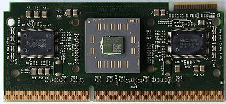 AMD Athlon (early version) - a technically different but fully compatible x86 implementation Slot-A Athlon.jpg