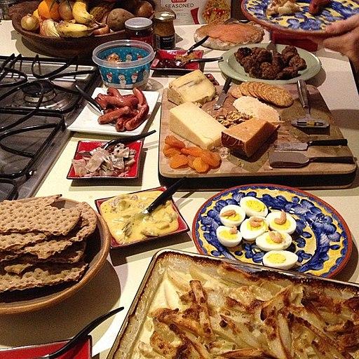 Smörgåsbord foods