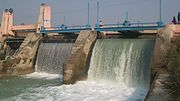 Small Hydroelectric Dam on Ganges Canal at Nagla Kabir UP