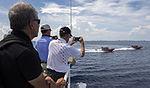 Small USCG boats show off for VIPs aboard the USCGC Bernard C. Webber 150825-F-FC975-584.jpg