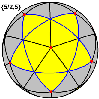 Kepler–Poinsot polyhedron - Image: Small stellated dodecahedron tiling
