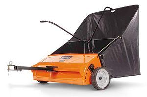 Lawn sweeper - Tow lawn sweepers can be attached to lawn tractors