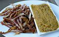 Smoked pig's ears with mustard.JPG