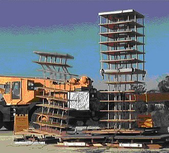 Earthquake engineering - Image: Snapshot of earthquake like crash testing