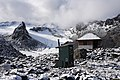 Snowbird Hut at Snowbird Glacier. Talkeetna Mountains, Alaska.jpg