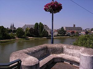 Aisne (river) - The Aisne running through Soissons
