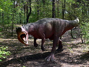 Lebendrekonstruktion von Allosaurus