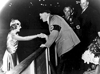 Sonja Henie - Henie with Hitler in 1936