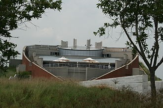 Cradle of Humankind - Tumulus building at Maropeng visitors centre